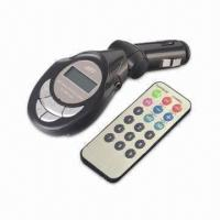 Quality Car MP3 Player, Built-in Wireless FM Stereo Transmitter for sale