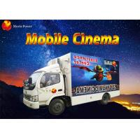 Quality 8 / 9 / 12 Seat Theme Film Mobile 5D Cinema With Electric / Hydraulic Platform for sale