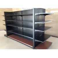 Buy cheap Cold Rolled Steel Supermarket Display Shelving With Perforated Back Panel from wholesalers
