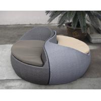 Quality Grey Fashion Comfortable Outdoor Rattan Daybed For Beach / Pool for sale