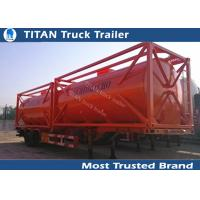 Quality 20ft 40ft Container diesel fuel tank trailer with carbon steel tank body for sale