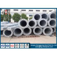 Quality High Voltage Polygonal Tubular / Conical Electrical Steel Utility Poles for Transmission Line for sale