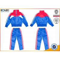 Quality New school uniform design blue and red color 100% polyester custom school uniform for teachers and students for sale