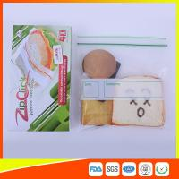 Quality Food Stroage Plastic Sandwich Bags LDPE / Zip Up Storage Bags For Supermarket for sale
