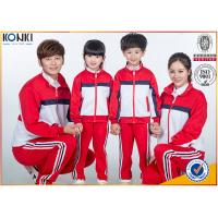 Quality Red and white color jacket design custom school uniform for sport meeting for sale