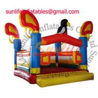 Quality Attractive Colorful Inflatable Commercial Bouncy Castle , Moonwalk Bounce House for hire for sale