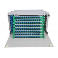 Quality High intensive 96 core Universal Fiber Optics Patch Panel single mode for sale