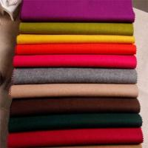 China Polyester Melton Wool Fabric / Wool Dress Fabric For Jacket Coating Dress on sale