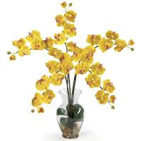 10 flowers artificial orchid branch for good decoration