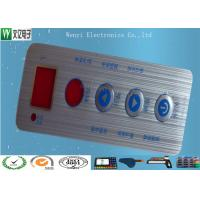 Waterproof Membrane Switch Touch Panel Overlay Red Window Silver Contact Pad