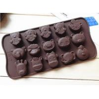 Quality China Wholesale Different Shape Funny Cartoon Animal Silicone Chocolate Mold for sale