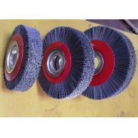 Quality Deburring Gear Circular Abrasive Nylon Wheel Brush 6 Inch OD 90 Mm Middle Plate for sale