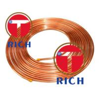 Quality C11000 Capillary Copper Pipe Coil Non - Alloy For Air Condition / Refrigerator for sale