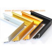 China Brushed Aluminium Picture Frame Mouldings , Aluminium Picture Frame Extrusions  on sale