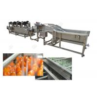 Quality Multifunction Vegetable Fruit Washing Machine Sorting Processing And Air Drying Line for sale