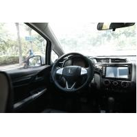 Quality Anti Slip Pu Breathable Car Steering Wheel Cover 25 X 207mm Matte Black Color for sale