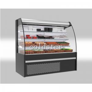Quality Commercial Multi Deck Upright Air Curtain Open Beverage Display Chiller for sale