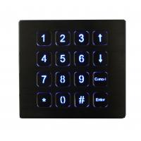 Quality 16 Keys IP67 Top Panel Mount Backlit Usb Numeric Keypads Red Or Blue for sale