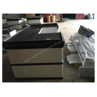 Quality Elegant Custom White Checkout Counter / Anti - Corrision Grocery Store Register Counters for sale