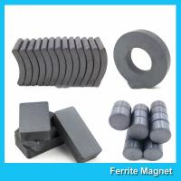 Quality Industrial Sintered Permanent Ceramic Ferrite Magnet Block Ring Disc Arc Shaped for sale
