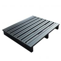 Buy cheap Durable Stackable Grey Heavy Duty Steel Pallets Powder Coating Single Faced from wholesalers