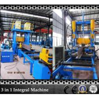 Quality T Bar Grow Up SAW Submerged Arc Welding Machine with Flange Plate Straightening Machine which Save Space for sale