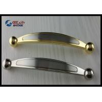 Quality Chrome 64mm Kitchen Cabinet Handles , Modern Bathroom Drawer Pulls Arched Golden for sale
