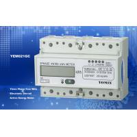 Quality Ligth Weight 35mm Din Rail KWH Meter / Digital Meter Direct Mode With PC Material for sale