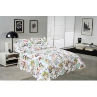 Big Cockscomb Flower Quilted Bed Covers , Full Size Bed Quilt Sets With ISO9001 Certification