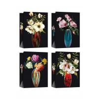 Quality Customized Paper Bags with flower patterns for daily shopping for sale