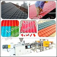 Quality light weight high strength, noise and heat insulation pvc roof sheet production line for sale