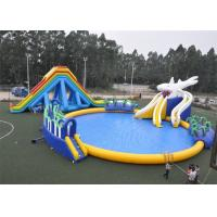 Quality Entertainment Blow Up Games Ultimate Inflatable Water Park / Water Toys For Lake for sale