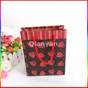 Quality flat handle kraft paper bag,paper bags with flat handle,flat paper handle bags for sale
