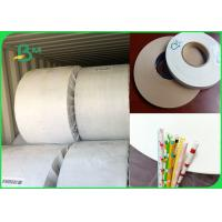 China 60gsm 120gsm Good Waterproof Performance Slitted Paper For White Food Grade Paper Straw on sale