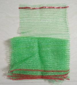 Quality Tubular Knitted Mesh Netting Bags , Polyester Drawstring Bag Long Lifespan for sale