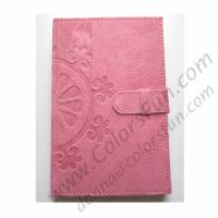 Quality Suede Covered Journal with Embossing for sale