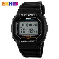 Quality Square Shaped LCD Digital Watches Korea Stylish 3ATM Waterproof for sale