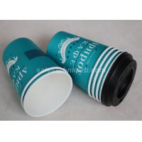 Quality Take Away Disposable Paper Coffee Cups Custom Printed Single / Double PE Coated for sale