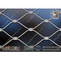 Quality SS316 / SS304 Stainless Steel Wire Cable Mesh   China SS Wire Rope Mesh Factory for sale