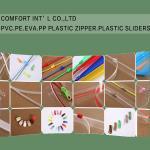 Quality Garments Accessories PVC PE EVA PP Transparent Plastic Zipper Plastic Sliders for sale