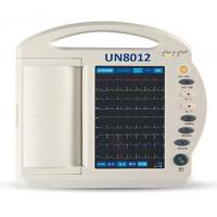 China Twelve Channel ECG Machine with touchscreen and handle on sale