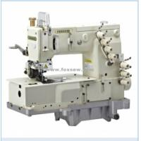 Quality 3-Needle Flat-bed Double Chain Stitch Machine for lap seaming for sale