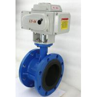 Quality Double Flange Butterfly Electrically Operated Water Valve Standard Size for sale