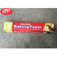 Quality Double Sides Silicone Coated Parchment Paper Roll 300mm×5m Size Food Wrapping / Baking for sale