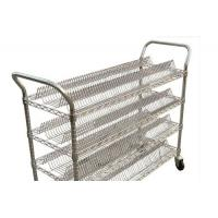 Quality Anti Static Shelf Mobile Steel Storage Trolley For Eletronic Factory , Smt Reel Storage for sale