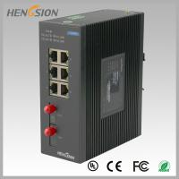8 Port fast ethernet switch 1.2Mpps Packet forwarding speed , fiber network switch