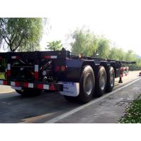Quality 3 Axle 40ft Flatbed Container Trailer With High Tensile Strength Chassis for sale