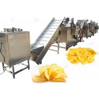 Quality Industrial Automatic Potato Chips Making Machine Electric Heating With High Capacity 200kg/H for sale