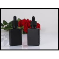 Quality Black Matte Glass Bottles Square Essential Oil Droppe Bottle Frosted Glass Bottles for sale