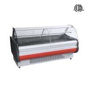 Quality Front Open Door Deli Cooler Supermarket Cooked Food Display Fridge Counter Merchandiser for sale